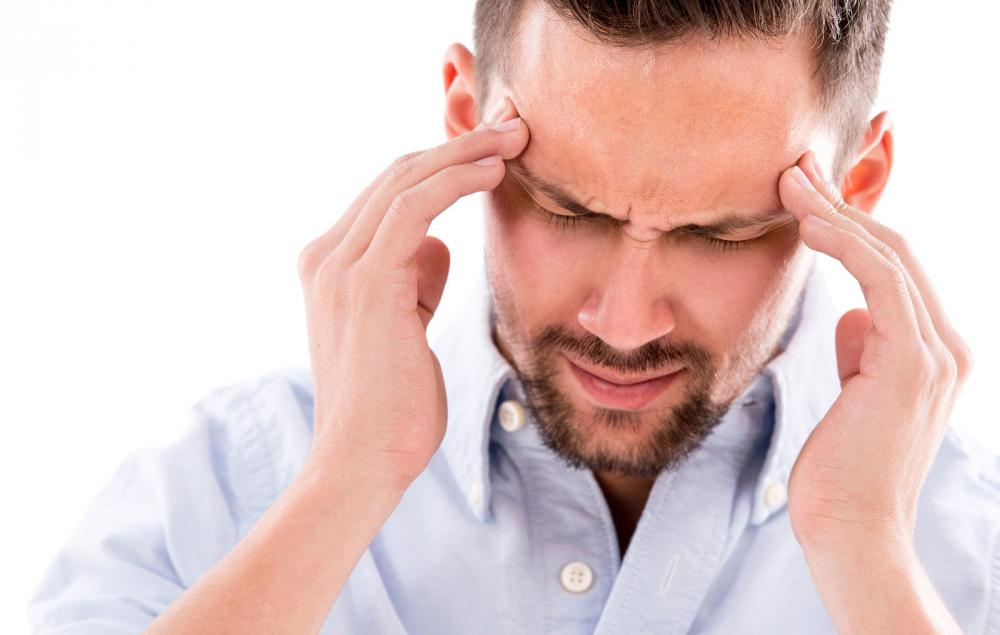 man with headache in beverly hills